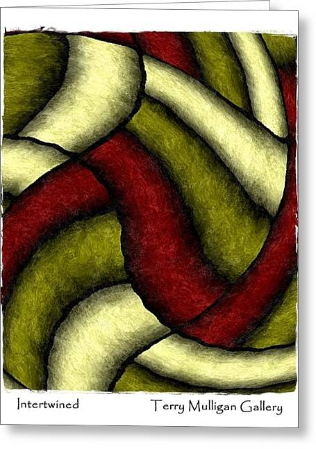 Intertwined Greeting Card by Terry Mulligan