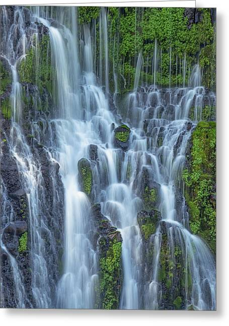 Greeting Card featuring the photograph Intimate Burney Falls by Patricia Davidson