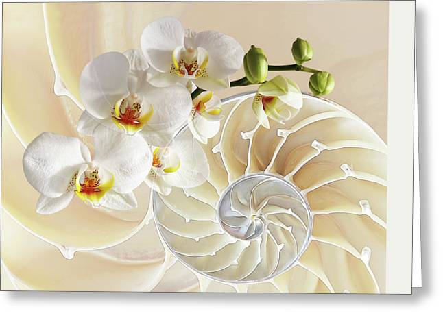 Intimate Fusion Greeting Card by Gill Billington