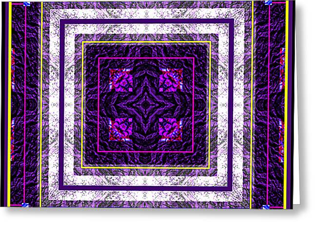 Greeting Card featuring the photograph Into Purple by Barbara MacPhail