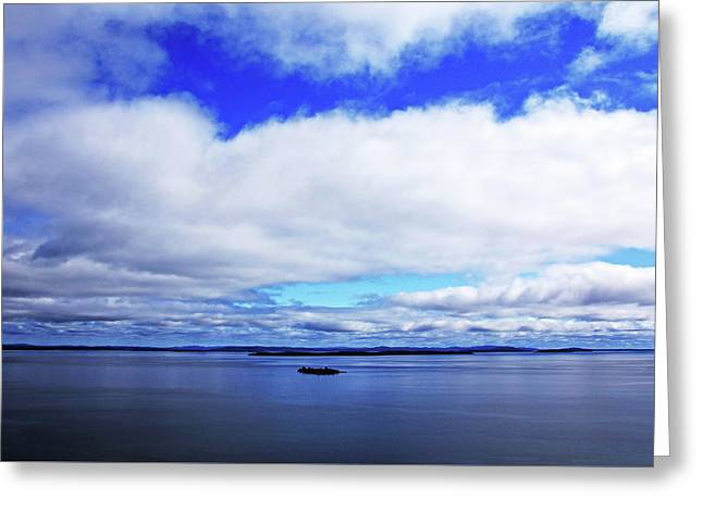 Into The Blue Greeting Card by Debbie Oppermann