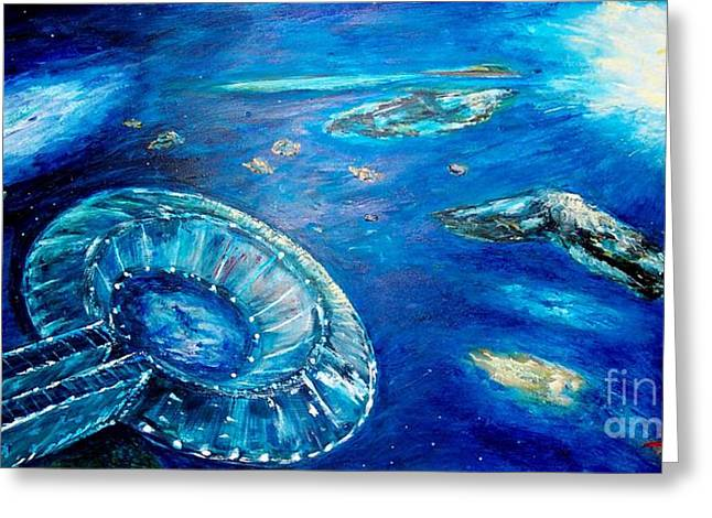Into The Blue  Greeting Card by Mary Sedici