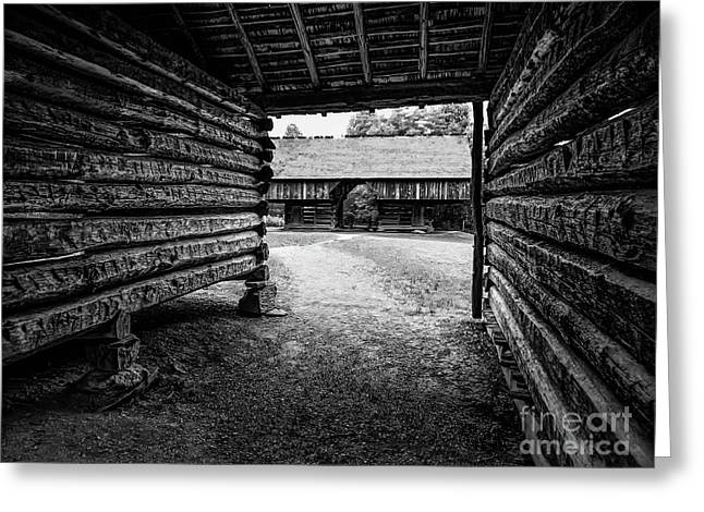 Into The Dogtrot Barn Greeting Card by Elijah Knight