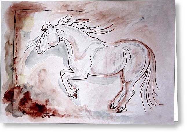 Into The Fire Greeting Card by Audrey Tarlton