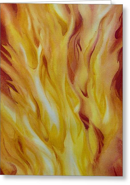 Into-the-fire-ii Greeting Card by Nancy Newman