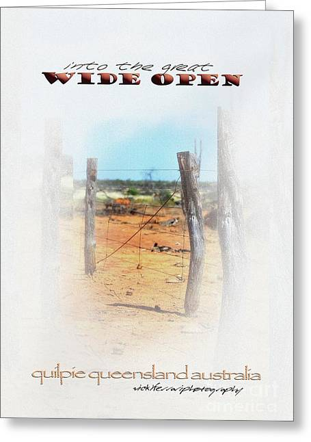 Into The Great Wide Open Australia 2 Greeting Card by Vicki Ferrari