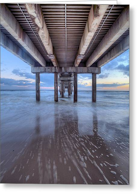 Into The Gulf At Orange Beach Greeting Card by JC Findley