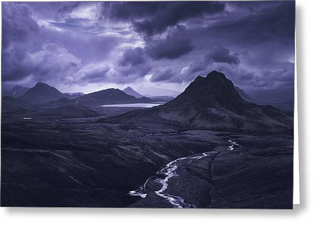 Into The Highlands Greeting Card