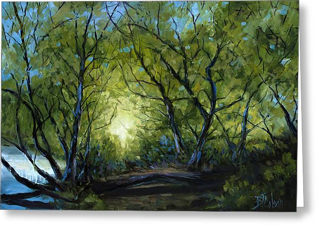 Into The Light Greeting Card by Billie Colson