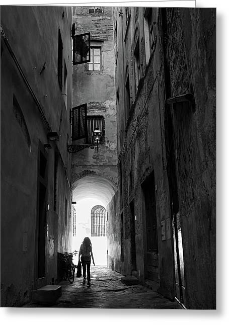 Into The Light, Florence, Italy Greeting Card