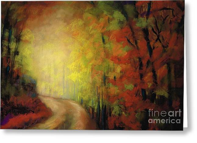 Into The Light Greeting Card by Frances Marino