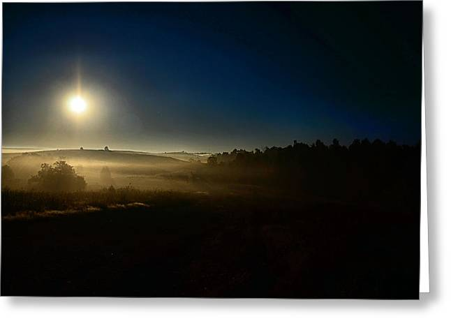 Into The Light Greeting Card by John Collins