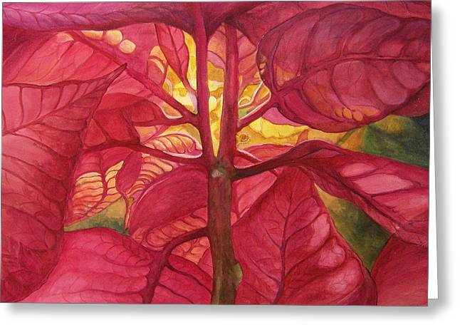 Into The Light Greeting Card by Lois Mountz