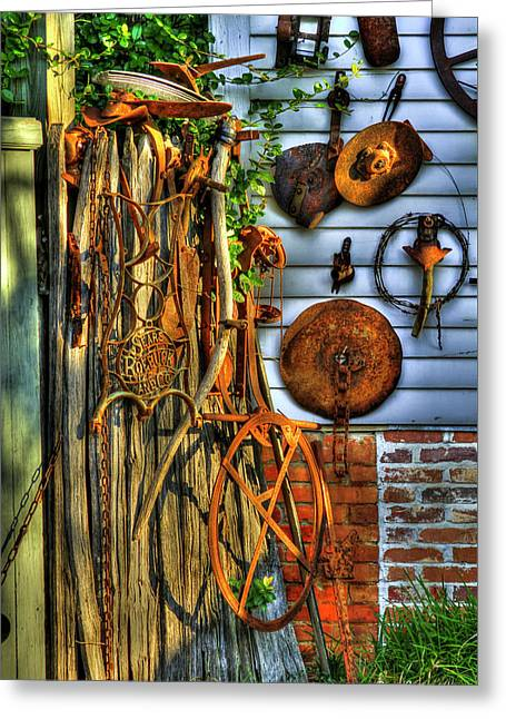 Into The Light Tools Wall Art Greeting Card