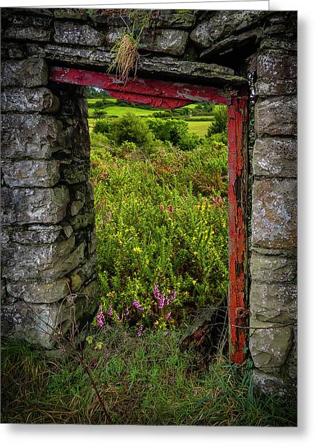 Greeting Card featuring the photograph Into The Magical Irish Countryside by James Truett