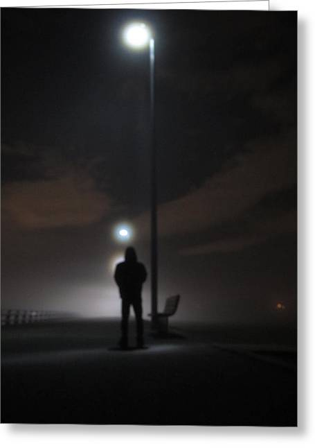 Greeting Card featuring the photograph Into The Mist by Digital Art Cafe