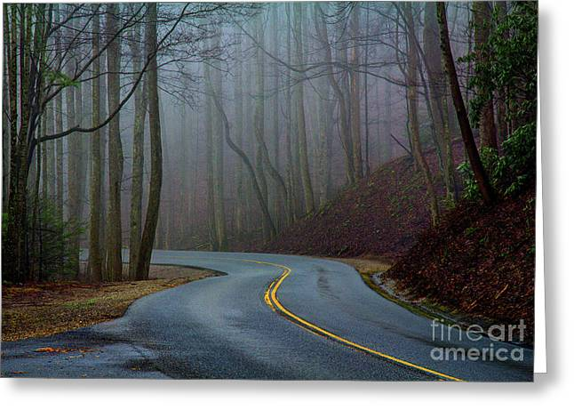 Into The Mist Greeting Card by Douglas Stucky