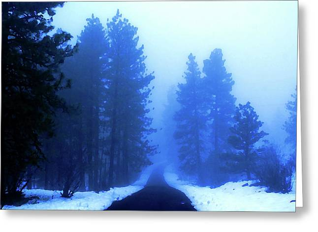 Into The Misty Unknown Greeting Card by Ben Upham III