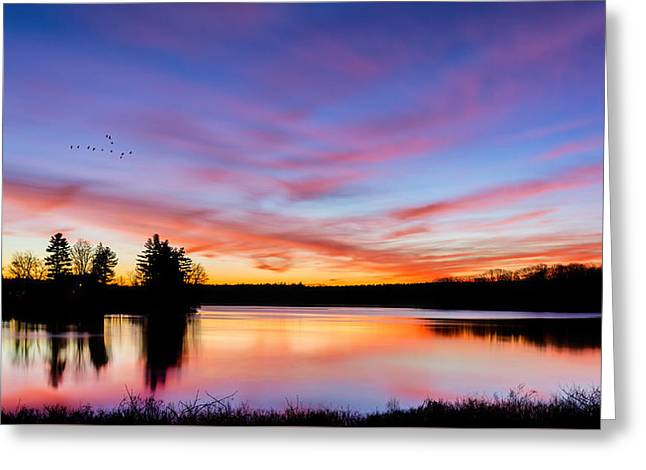 Into The Morning Greeting Card by Bill Wakeley