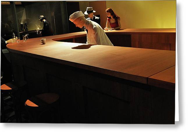 Into The Nighthawks Greeting Card