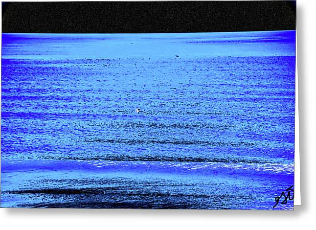 Into The Ocean Void Greeting Card