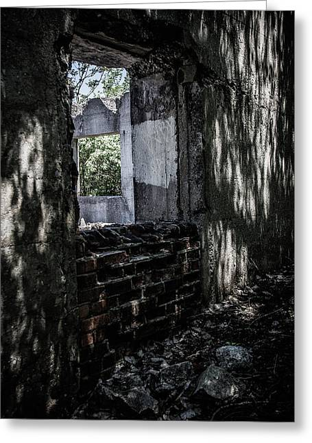 Into The Ruins 4 Greeting Card