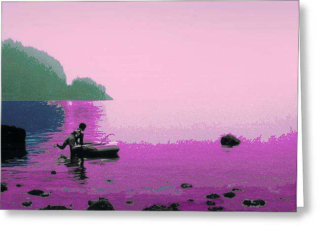 Greeting Card featuring the photograph Into The Stillness - Pink by Lyle Crump