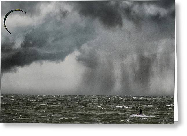 Into The Storm Greeting Card by Martin Newman