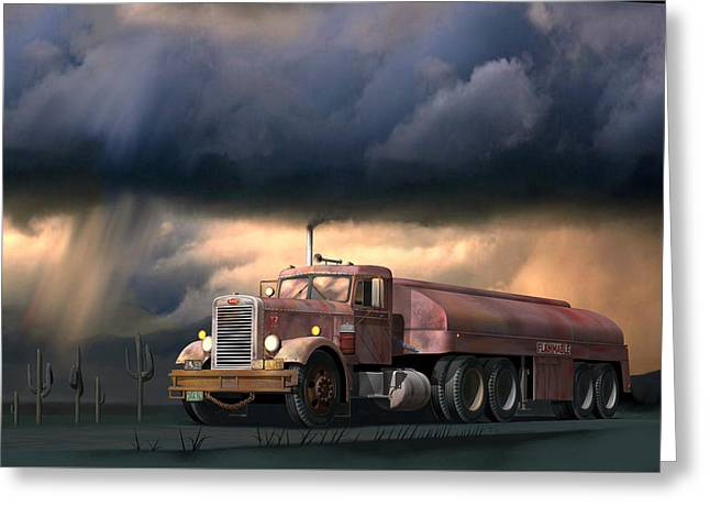 Into The Storm Greeting Card by Stuart Swartz
