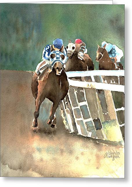 Into The Stretch And Headed For Home-secretariat Greeting Card by Arline Wagner