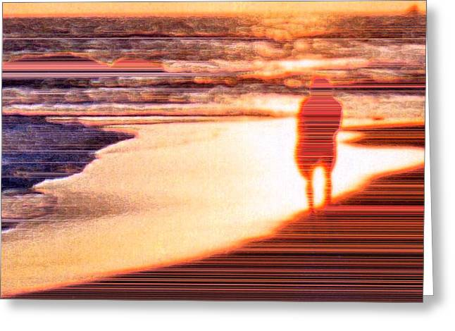 Into The Sunset 6 Greeting Card by Lyle Crump