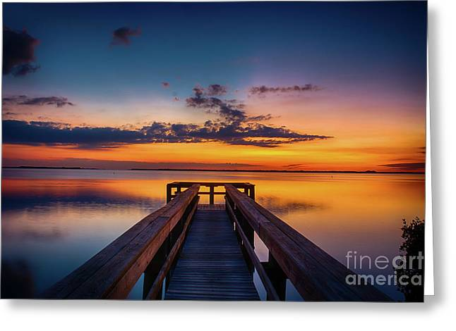 Into The Sunset Greeting Card