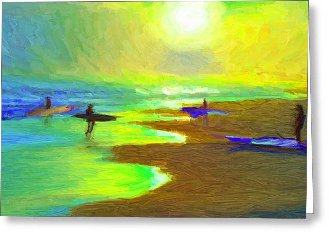 Into The Surf Greeting Card