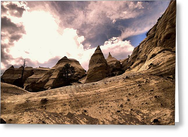 Into The Tent Rocks Greeting Card