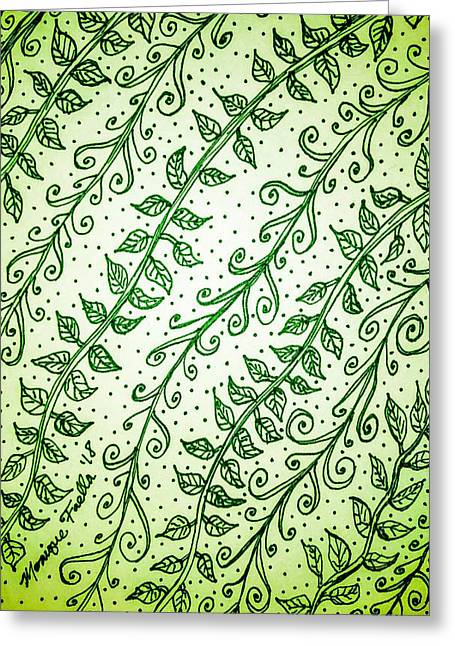Into The Thick Of It, Green Greeting Card