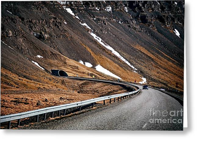 Into The Tunnel Greeting Card