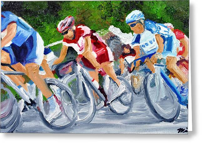 Into The Turn Greeting Card by Michael Lee