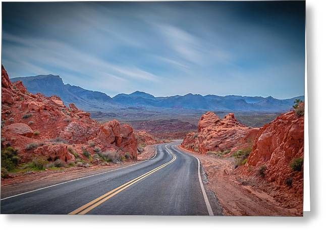 Into The Valley Of Fire Greeting Card