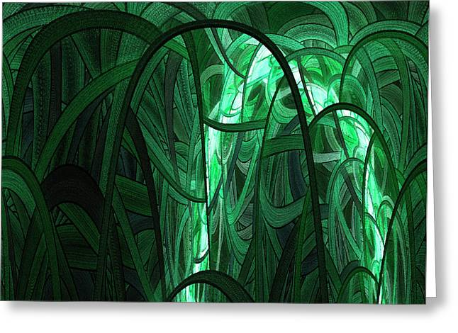 Botanic Digital Greeting Cards - Into the Wilderness Greeting Card by Stefan Kuhn