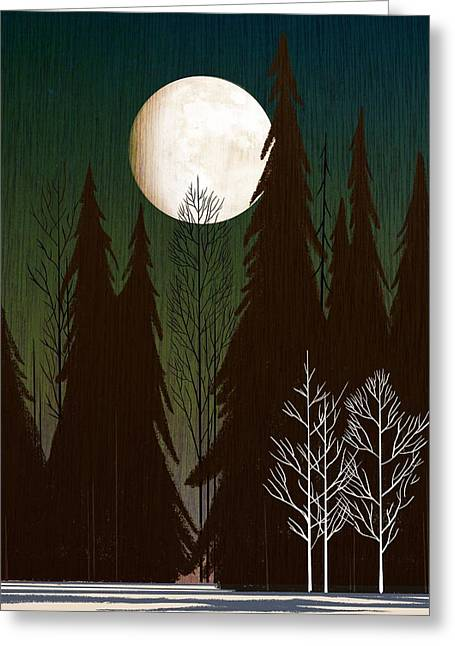 Into The Winter Woods Greeting Card