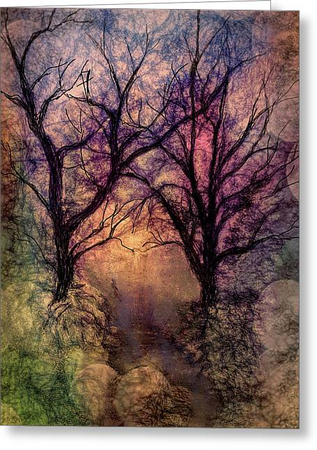 Into The Woods Greeting Card by Annette Berglund