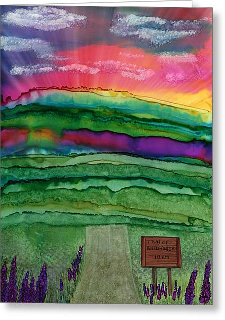 Into Town Greeting Card