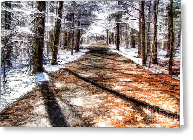 Into Winter Greeting Card by Betsy Zimmerli