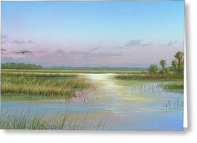 Intracoastal Glimmer Greeting Card