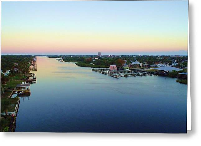 Intracoastal Rainbow Sky Greeting Card