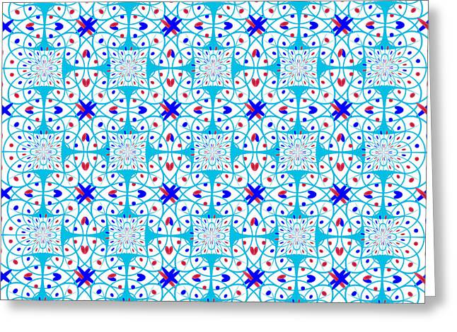 Intricate Geometric Pattern Greeting Card by Gaspar Avila