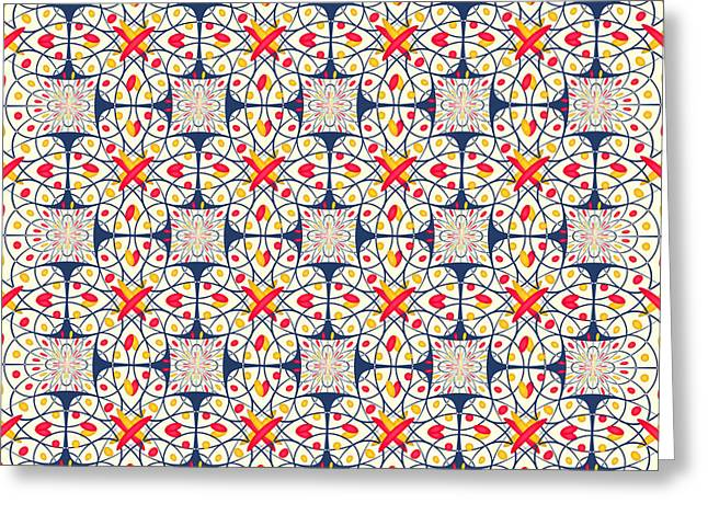Intricate Pattern Greeting Card by Gaspar Avila