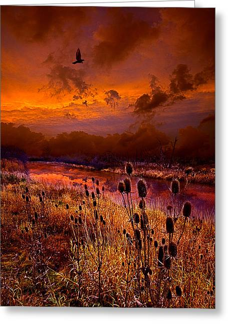 Twilight Greeting Cards - Intuition Greeting Card by Phil Koch