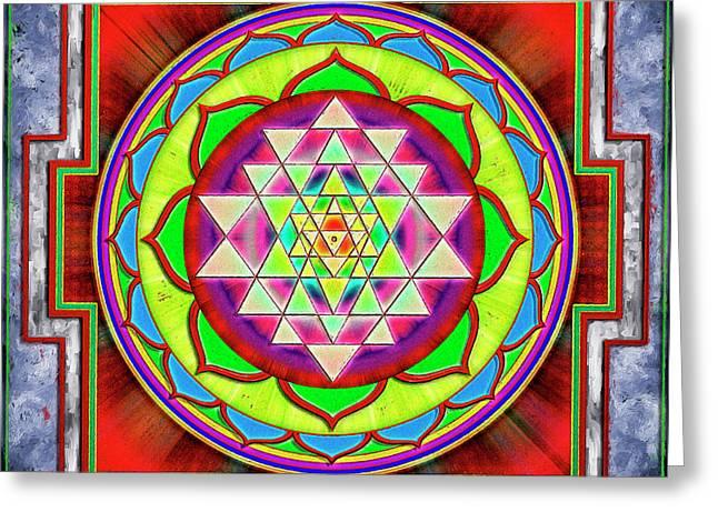 Intuition Sri Yantra 1 Greeting Card by Dirk Czarnota