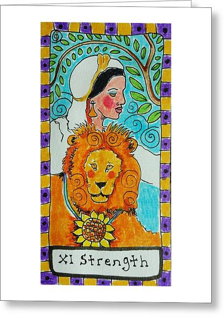 Intuitive Catalyst Card - Strength Greeting Card